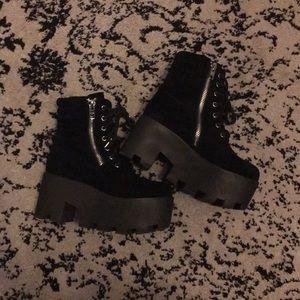 Current Mood Dolls Kill Greenpoint Velvet Boots